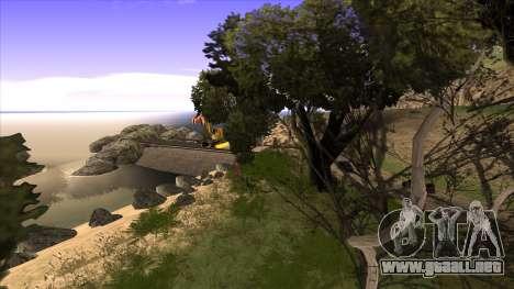 La construcción del puente, y el denso bosque para GTA San Andreas séptima pantalla