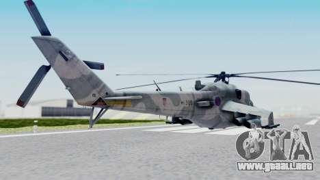 Mi-24V Croatian Air Force H-035 para GTA San Andreas left