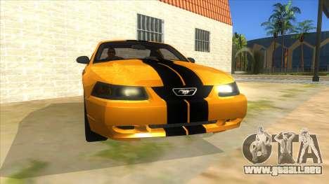2003 Ford Mustang para GTA San Andreas vista hacia atrás