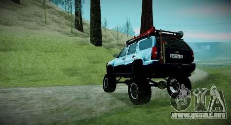 Chevrolet Tahoe LTZ 4x4 para GTA San Andreas vista posterior izquierda