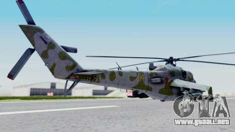 Mi-24V Soviet Air Force 14 para GTA San Andreas left
