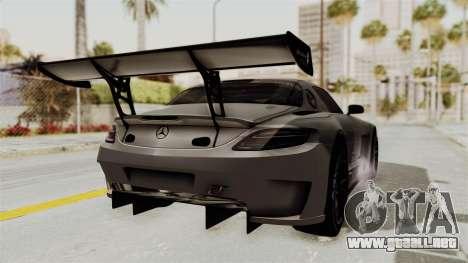 Mercedes-Benz SLS AMG GT3 PJ1 para GTA San Andreas vista posterior izquierda