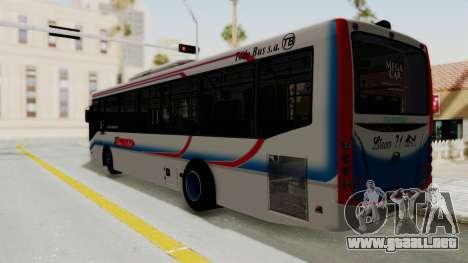 Todo Bus Pompeya II Agrale MT15 Linea 71 para GTA San Andreas left