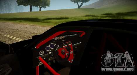 Subaru Impreza WRX STi Bestia Negra Japón para visión interna GTA San Andreas