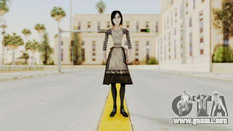 Alice London Madness Returns para GTA San Andreas segunda pantalla