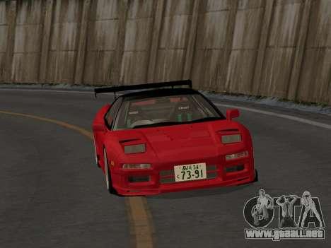 Honda NSX (NA1) Time Attack para GTA San Andreas vista hacia atrás