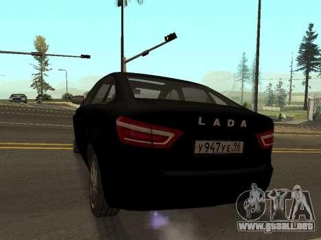 Lada Vesta para GTA San Andreas vista posterior izquierda