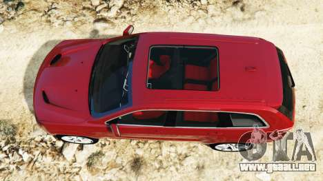 GTA 5 Jeep Grand Cherokee SRT-8 2015 v1.1 vista trasera