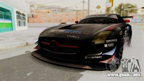 Mercedes-Benz SLS AMG GT3 PJ1 para GTA San Andreas vista hacia atrás