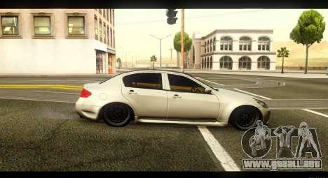 Infiniti G37 para GTA San Andreas left