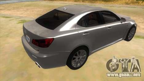 Lexus ISF para la visión correcta GTA San Andreas