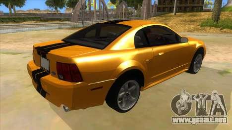 2003 Ford Mustang para la visión correcta GTA San Andreas
