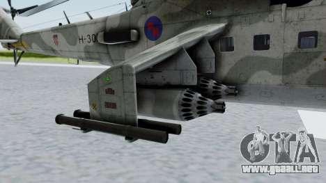 Mi-24V Croatian Air Force H-035 para la visión correcta GTA San Andreas