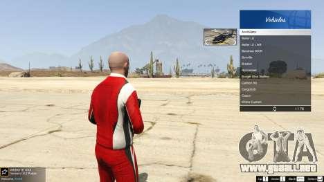El cuerpo de la tienda de benny en el modo indiv para GTA 5