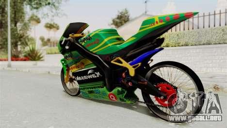 Kawasaki Ninja ZXRR56R para GTA San Andreas left