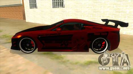 Lexus LFA 2010 Yamai Sister Itasha para GTA San Andreas left