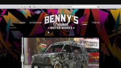 El cuerpo de la tienda de benny en el modo individual para GTA 5
