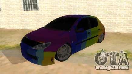 Iranian Peugeot 206 Sport para GTA San Andreas
