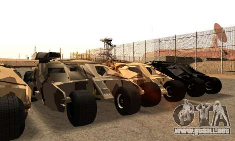 Army Tumbler Gun Tower from TDKR para vista inferior GTA San Andreas