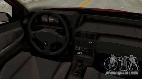 Daewoo Cielo 1.5 GLS 1998 para visión interna GTA San Andreas