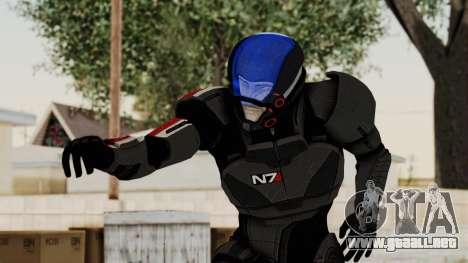 ME2 Shepard Default N7 Armor with Capacitor Helm para GTA San Andreas