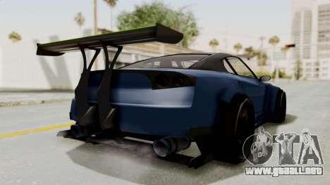 GTA 5 Annis Elegy Twinturbo Spec para GTA San Andreas vista posterior izquierda
