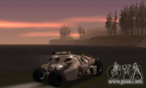 Army Tumbler Gun Tower from TDKR para las ruedas de GTA San Andreas