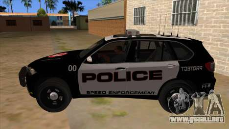 2014 BMW X5 F15 Police para GTA San Andreas left