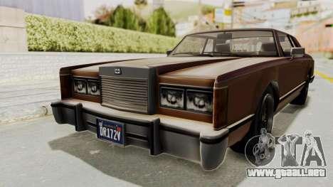 GTA 5 Dundreary Virgo Classic para GTA San Andreas vista posterior izquierda