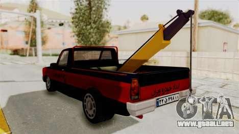 Mazda Tow Truck Pickup para la visión correcta GTA San Andreas