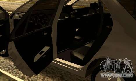 Mitsubishi Lancer 2005 para visión interna GTA San Andreas