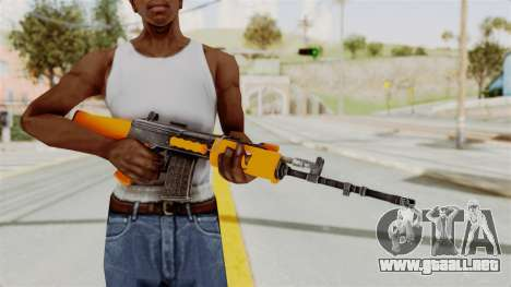 IOFB INSAS Plastic Orange Skin para GTA San Andreas tercera pantalla