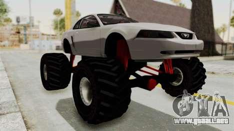 Ford Mustang 1999 Monster Truck para la visión correcta GTA San Andreas