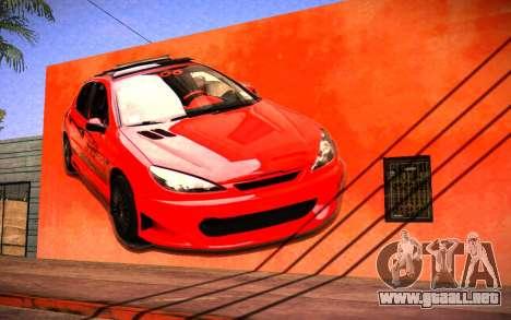 Peugeot 206 Wall Grafiti para GTA San Andreas