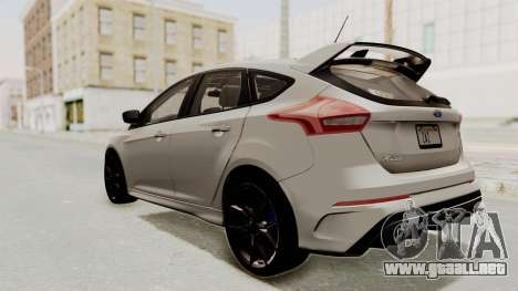 Ford Focus RS 2017 para GTA San Andreas left