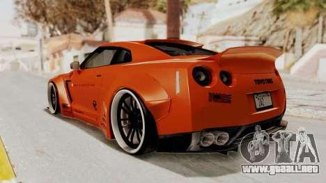 Nissan GT-R R35 Liberty Walk LB Performance para GTA San Andreas left