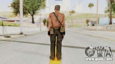 MGSV Phantom Pain Rogue Coyote Soldier Naked v1 para GTA San Andreas tercera pantalla