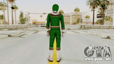 Power Ranger Zeo - Green para GTA San Andreas tercera pantalla