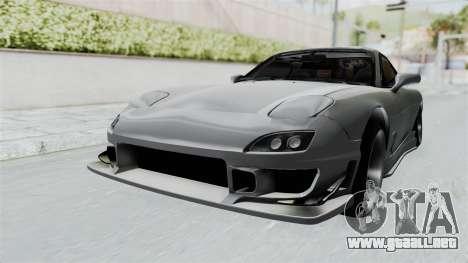 Mazda RX-7 FD3S HellaFlush para la visión correcta GTA San Andreas