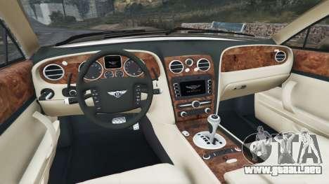 GTA 5 Bentley Continental Flying Spur 2010 vista lateral trasera derecha
