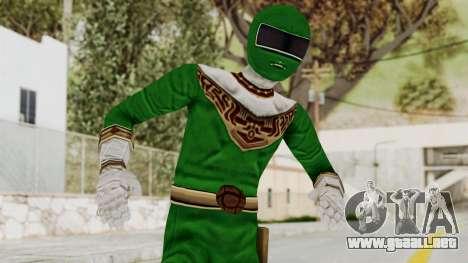 Power Ranger Zeo - Green para GTA San Andreas