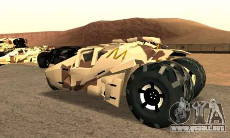 Army Tumbler Gun Tower from TDKR para GTA San Andreas left