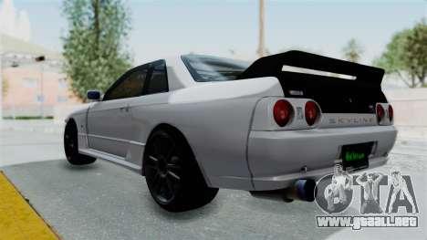 Nissan Skyline BNR32 Hot Version para GTA San Andreas left