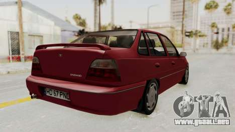 Daewoo Cielo 1.5 GLS 1998 para GTA San Andreas left