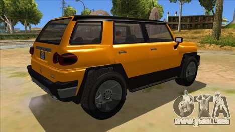 Karin Beejay XL para la visión correcta GTA San Andreas