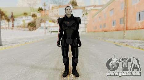 Mass Effect 2 Shepard Default N7 Armor No Helmet para GTA San Andreas segunda pantalla