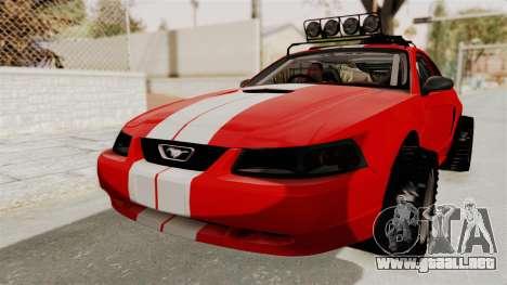 Ford Mustang 1999 Rusty Rebel para la visión correcta GTA San Andreas