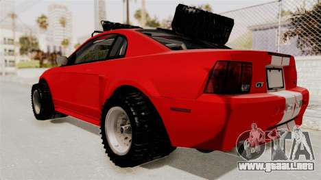 Ford Mustang 1999 Rusty Rebel para GTA San Andreas vista posterior izquierda