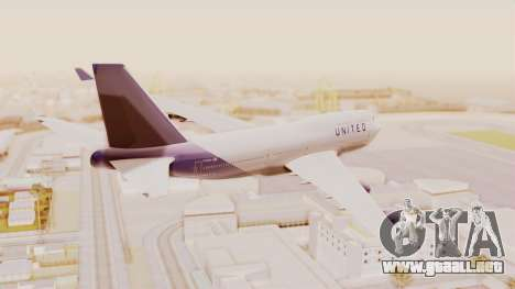 Boeing 747-400 United Airlines para GTA San Andreas left
