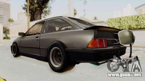 Ford Sierra Mk1 Drag Version para GTA San Andreas vista posterior izquierda
